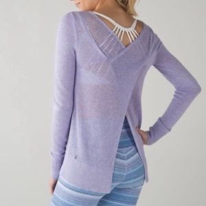 Lululemon Sunset Savasana Lilac Pullover Sweater